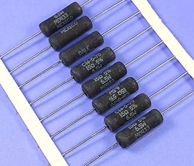 5x 330 ohm//9 vatios wirewound-Power-resistencia