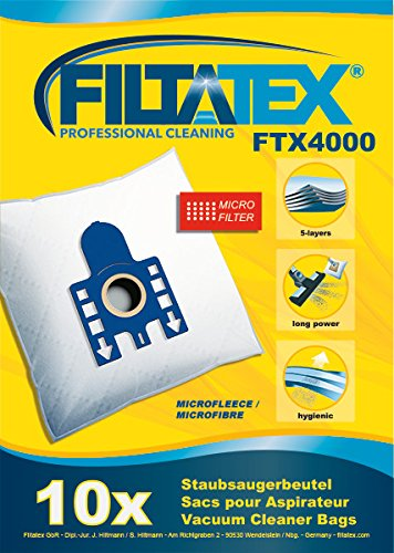 10 x FILTATEX miele car care s5 obturable sacs aspirateur Miele S5 carcare 2200w // miele s5 car care P