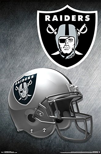Trends International Oakland Raiders Helmet Wall Poster 22.375