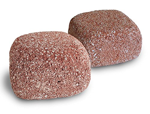 EcoBio-Block 2-Pack Stone for Aquariums, Medium - Natural Water Clarifier and Odor Remover, Treats 30 to 80 Gallons