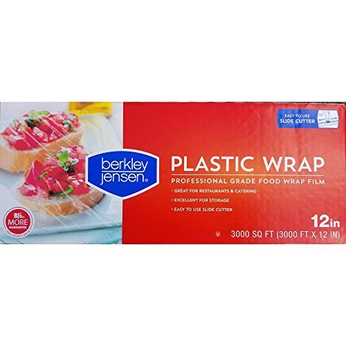(Berkley Jensen Professional Plastic Wrap with Cutter Slide 3000 Foot X 12 Inches Food Service Film)