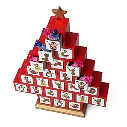 Natale Calendario.Dmail Calendario Dell Avvento Albero Di Natale In Legno