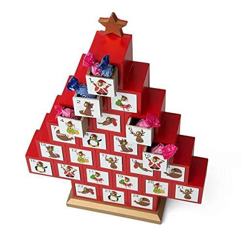 Dmail - Calendario dell'avvento albero di natale in legno D-Mail