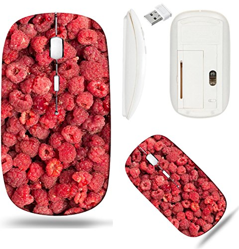 Liili Wireless Mouse White Base Travel 2.4G Wireless Mice with USB Receiver, Click with 1000 DPI for notebook, pc, laptop, computer, mac book ID: 22148591 fresh ripe raspberry as a background