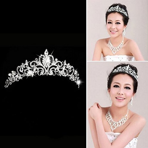 Aukmla Princess Wedding Crown Rhinestones product image