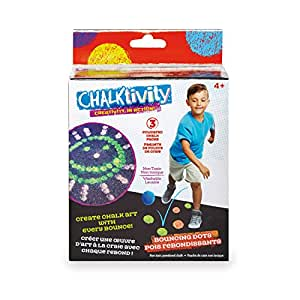 Chalktivity – Creativity in Action – Bouncing Chalk Dot with 3 Powdered Chalk Packs