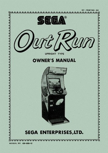 Out Run Outrun Arcade Game Service & Repair Manual