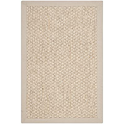 Safavieh Natural Fiber Collection NF525C Marble Sisal Area Rug (2' x 3') - Sisal material adds strength and durability to this rug, making it ideal for high-traffic areas Neutral hues blend well with a wide range of furniture colors and styles Power-loomed construction ensures a precise woven design - living-room-soft-furnishings, living-room, area-rugs - 51XmRRntnpL. SS400  -