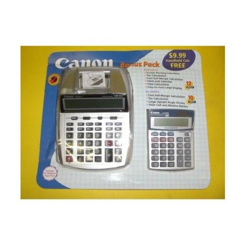 Canon P23DH Mini Desktop Printing Calculator plus LS100 Bonus Pack