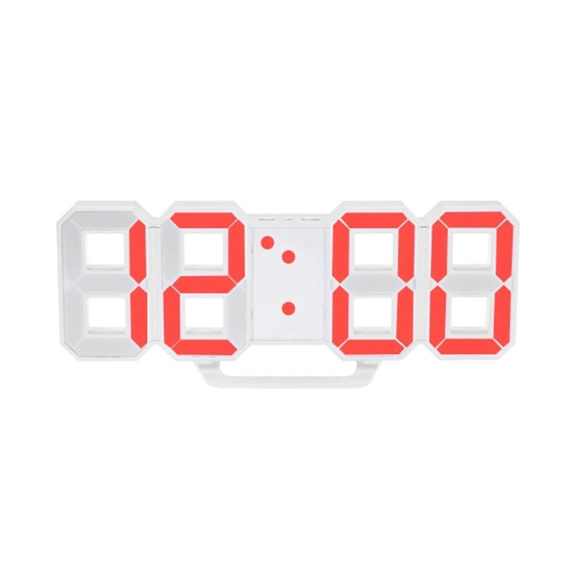Fantasyworld LED Digital Alarm Clock 3D, elettrico Desk Clock con 24/12 ore Display & 3 livelli di luminosità regolabile dimmerabile Nightlight per Office Home Kitchen