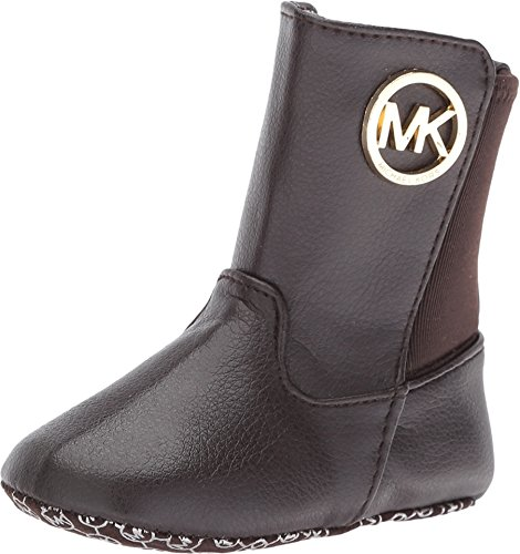 MICHAEL Michael Kors Kids Baby Girl's Baby Lily (Infant/Toddler) Chocolate Grainy - Kors Boots Michael Children's