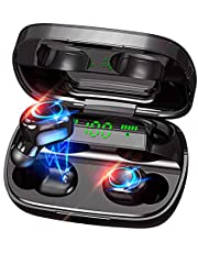 Luisport Wireless Earbuds Wireless Headphones Bluetooth Earbuds Stereo Sound Bluetooth Headphones Noise Cancellation with Charge Case (S12-Black)