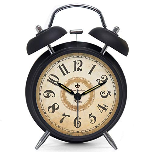 YJFNZ Digital Alarm Clock Vintage Clock Lazy Mute Student Bedside Glow Super Loud Alarm Clock Retro Bell Rome