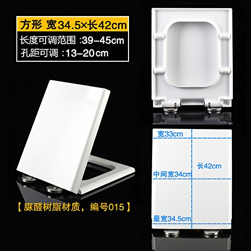 Square Urea Formaldehyde 015 [Width 34.5 Length 39-45] Topseh Square Square Thick Pp Urea Formaldehyde Resin Toilet Cover General Slow Down The Toilet Cover Old Toilet Toilet Seat Cover,Square Urea Formaldehyde 007 [Width 36.5 Length 42-48]Simple Modern C