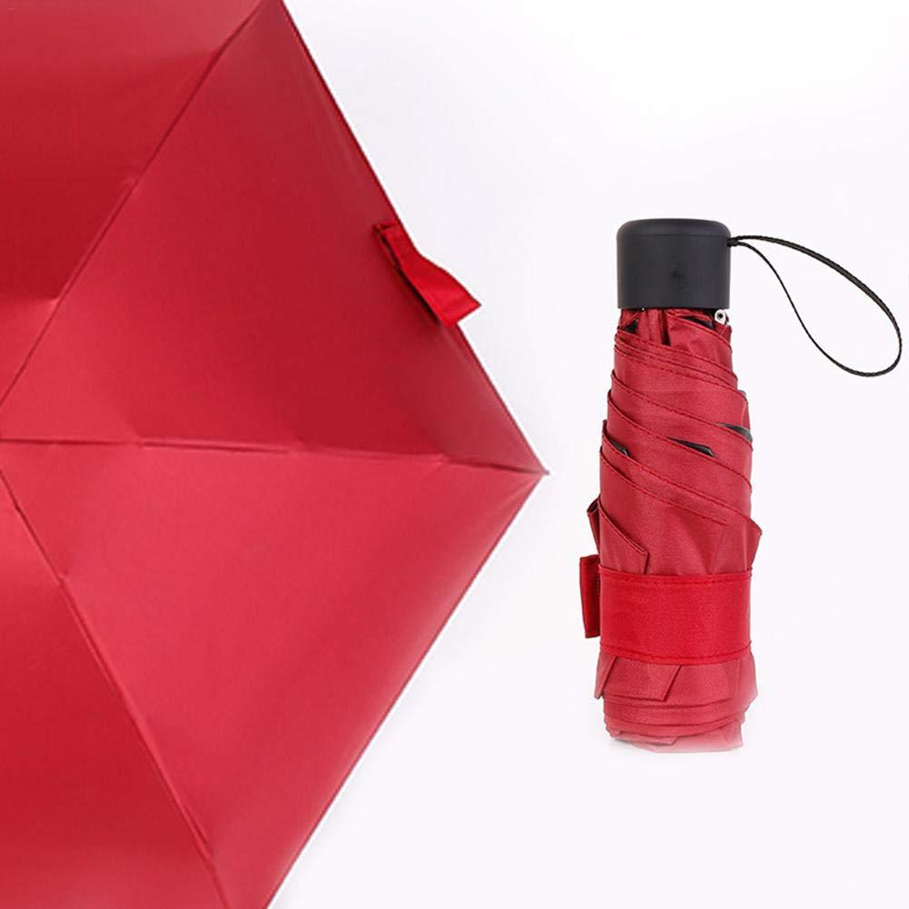 Leap-G Parapluie de poche parapluie pliable parapluie parapluie parapluie anti-UV L/éger compact stable classique pour les voyages professionnels noir
