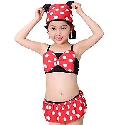 Freebily Baby Girls Swimsuit Cute Polka Dots Bikini Set Swimwear