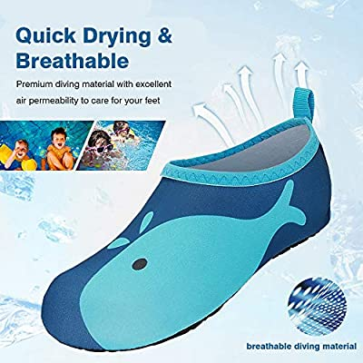 Children Barefoot Quick-Dry Aqua Water Socks Slip-on Swim Beach Shoes for Girls and Boys Toddler Pinkwhale JOTO Water Shoes for Kids