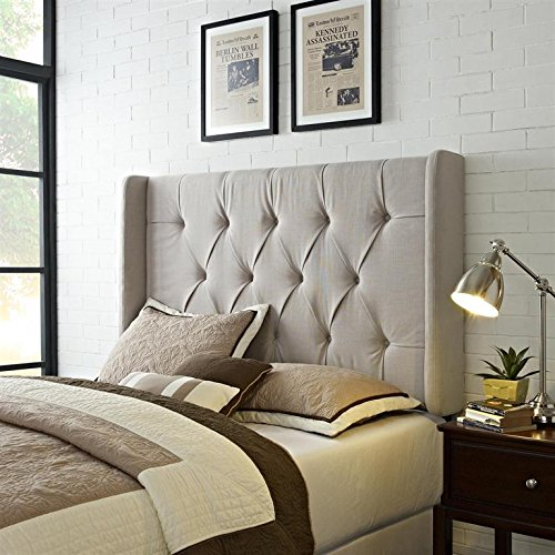 pulaski mirabella tufted panel headboard with wings king