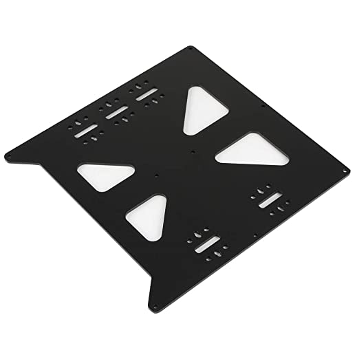 Black BCZAMD V2 Aluminum Y Carriage Plate Upgrade for Prusa i3 Style Heatbed Hotbed Reprap DIY 3D Printer Parts