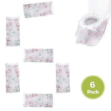 20 St/ück B/üro Restaurants Toilette Auflage Homgaty Einweg Toiletten Sitzbezug WC-Sitz Matte Toilettenpapier Pad f/ür Einkaufszentren Krankenhaus
