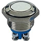 Mintice™ 16mm KFZ Auto Boot Kippschalter Druckschalter Schalter Drucktaster Druckknopf 250V 3A Metall Momentane