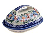 Best Le Creuset Butter Dishes - BCV Classic Boleslawiec, Polish Pottery Hand Painted Stoneware Review