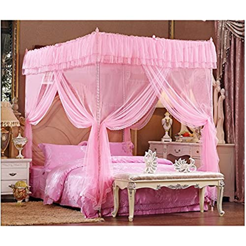 Pink Lace Luxury 4 Post Bed Canopy Mosquito Net (Full/queen)  sc 1 st  Amazon.com & King Size Tent Bed: Amazon.com