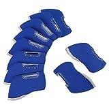 10Pcs/Set Golf Club Head Covers, 8 Colors Neoprene Golf Ball Head Protective Cover