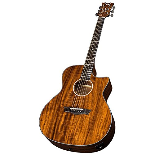 Dean AXS Exotic Cutaway Acoustic-Electric Guitar, Koa Top