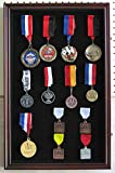 LARGE Pin Medal Display Case Shadow Box Display Case, with Glass Door, Lockable
