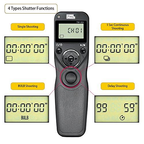 Pixel Tw 283 E3 Lcd Wireless Shutter Release Timer Remote