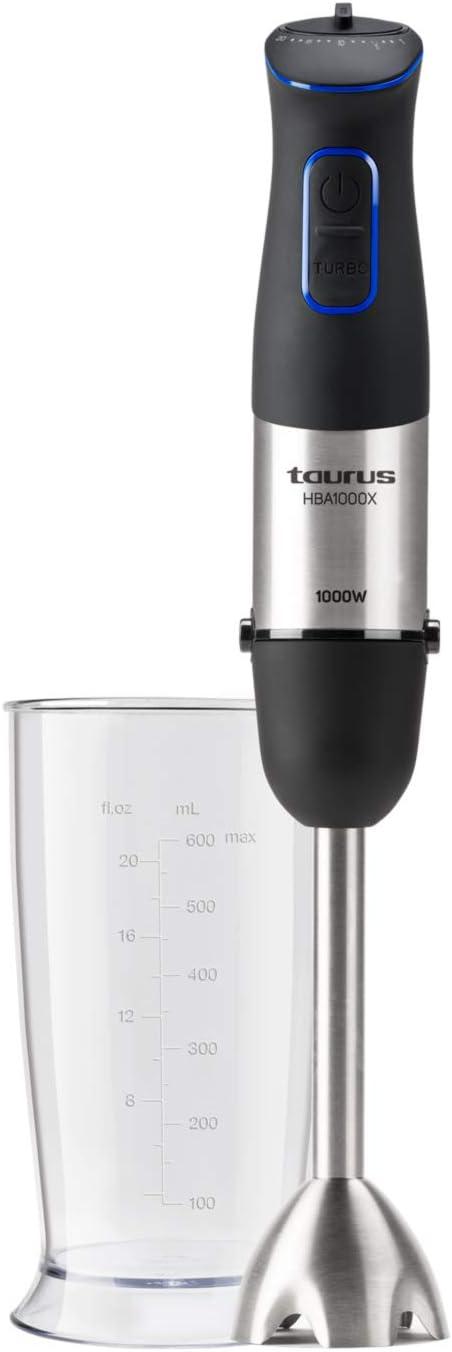 Taurus HB1000X Batidora de mano, 1000 W, Plástico, Acero