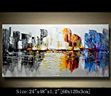 Modern Canvas Art Wall Decor Abstract Oil Painting Contemporary Art Abstract Paintings Framed Canvas Wall Art for Home Decor , Wall Decorations For Living Room Bedroom Office Ready to Hang
