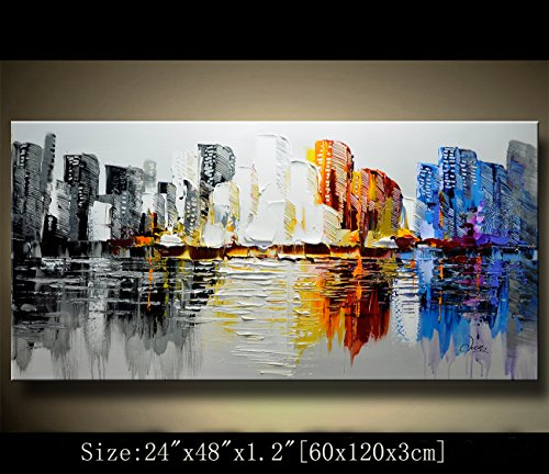Modern Canvas Art Wall Decor Abstract Oil Painting Contemporary Art Abstract Paintings Framed Canvas Wall Art for Home Decor , Wall Decorations For Living Room Bedroom Office Ready to Hang by Chen studio