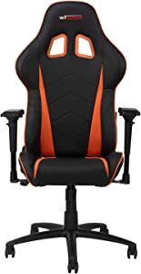 GT OMEGA PRO Racing Gaming Chair with Ergonomic Lumbar Support - PVC Leather Reclining High Back Home Office Chair with Swivel - PC Gaming Desk Chair for Ultimate Racing Experience - Black Next Orange