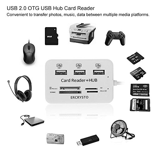 Card Reader And 3 Ports Usb Hub High Speed External