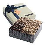 Gourmet Hamper Gift Tray, Nut Platter with Assorted Pistachios, Featuring Dark Chocolate Covered Pistachios & More, By Benevelo Gifts