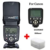 Yongnuo YN-560 IV + YN-560 TX Flash Speedlite Set for Canon Canon DSLR Camera such as 7D II 7D 6D 70D 60D 50D 40D 700D 650D 600D 550D 450D 5d III 1100D 1200D etc With EACHSHOT® Diffuser
