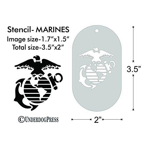 Stencil - United States Marine Corps, (Marine Corp Tattoo)