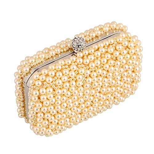 Night oro Fashion Craft Moontang Wild Gift Oro Clutch colore Bag Exquisite Dinner taglia colore Pearls oro qzXanOwBX