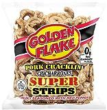 Golden Flake Super Cracklin Strip w/Red Pepper Seasoning 3.25 oz (Pack 4)