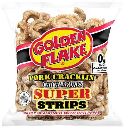 Golden Flake Super Cracklin Strip w/Red Pepper Seasoning 3.25 oz (Pack 4) by Golden Flake (Image #2)
