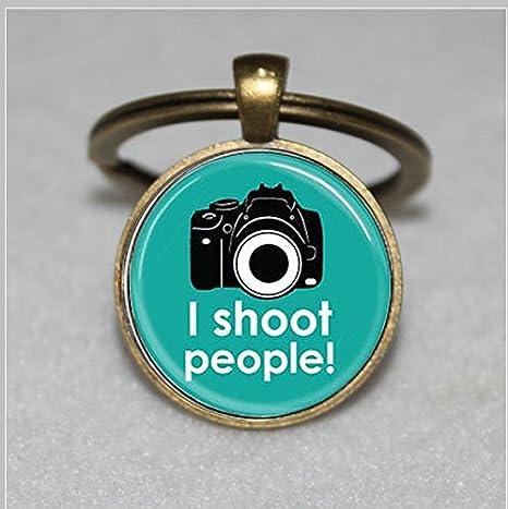 I SHOOT PEOPLE cámara llavero, para fotógrafos Funny llavero ...