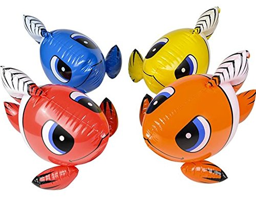 Set of 4 ~ Colorful Inflatable Clownfish 24