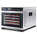 Kitchen & Housewares : COSORI Premium Food Dehydrator Machine(50 Free Recipes), 6 Stainless Steel Trays with Digital Timer and Temperature Control for Beef,Jerky,Fruit,Dog Treats,Herbs,ETL Listed/FDA Compliant