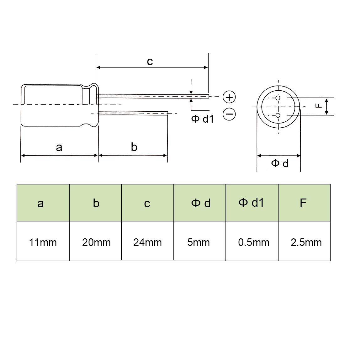 sourcing map Aluminum Radial Electrolytic Capacitor Low ESR Green with 100UF 16V 105 Celsius Life 3000H 5 x 11 mm High Ripple Current,Low Impedance 80pcs