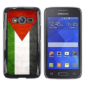 TopCaseStore / la caja del caucho duro de la cubierta de protección de la piel - Palestine Grunge Flag - Samsung Galaxy Ace 4 G313 SM-G313F