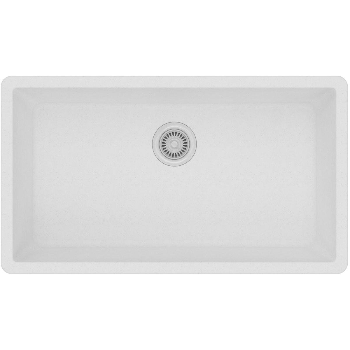 Elkay Quartz Classic ELGRU13322WH0 White Single Bowl Undermount Sink