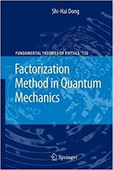 Book Factorization Method in Quantum Mechanics (Fundamental Theories of Physics)