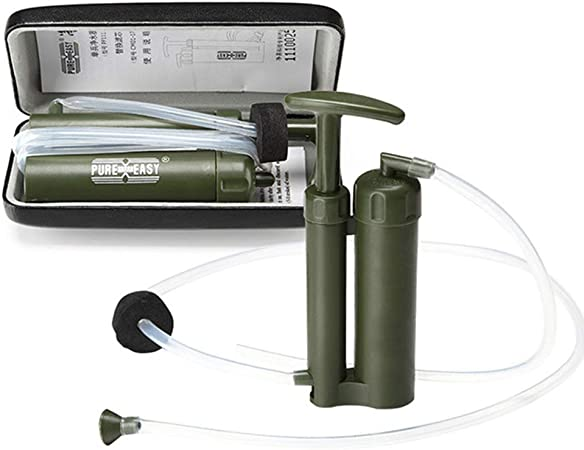 Portable Survie Filtre À Eau Pompe Potable Purificateur Filtration D/'urgence